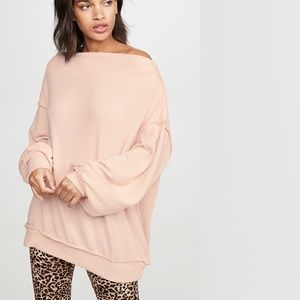 FREE PEOPLE Main Squeeze Off-the-Shoulder Sweater